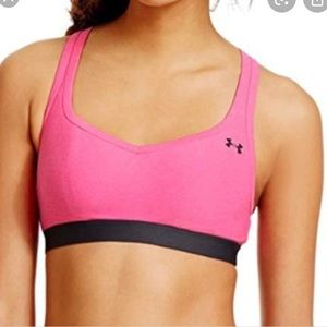 Under Armour NWT Mid Impact Sports Bra Pink 38A